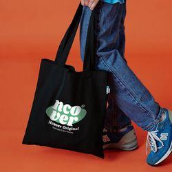 Ellipse tile logo eco bag-black