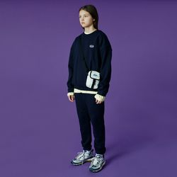 Small Original handwriting track pants-navy