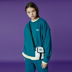 Small Original handwriting track sweatshirt-emerald
