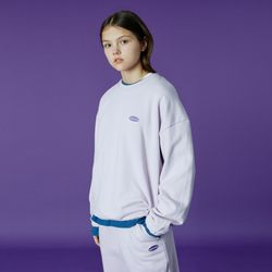 Small Original handwriting track sweatshirt-light purple