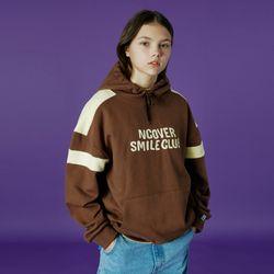 Smile club hoodie-brown