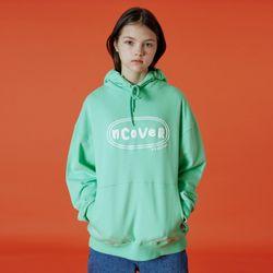 Original foaming printing hoodie-mint