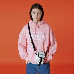 Original foaming printing hoodie-light pink