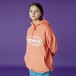 Original foaming printing hoodie-light orange