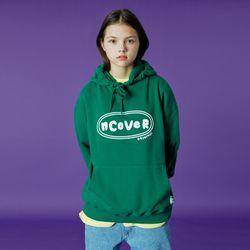 Original foaming printing hoodie-green