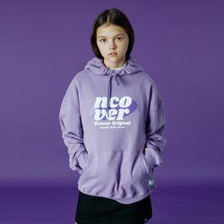 Ellipse tile logo hoodie-light purple
