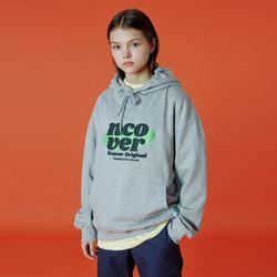 Ellipse tile logo hoodie-grey