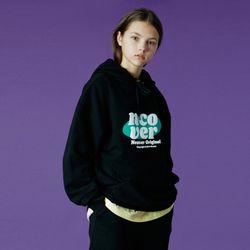 Ellipse tile logo hoodie-black