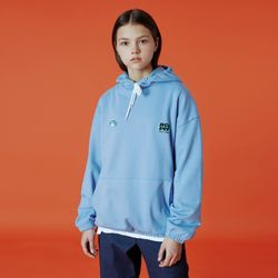Double label point hoodie-sky blue