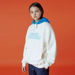 Color hood point hoodie-cream