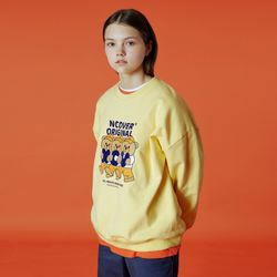 Alphabet bruin sweatshirt-yellow