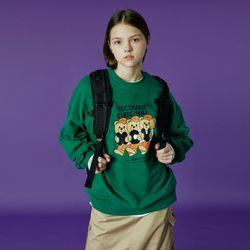 Alphabet bruin sweatshirt-green