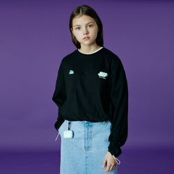 Double label point long sleeve-black