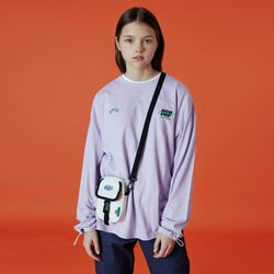 Double label point long sleeve-light purle