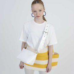 Triangle 2way Mini Bag (White)