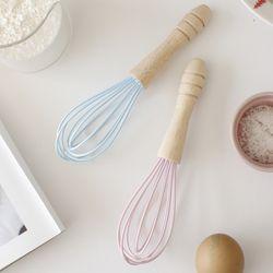 파스텔 실리콘 미니 거품기(휘핑기)-2color