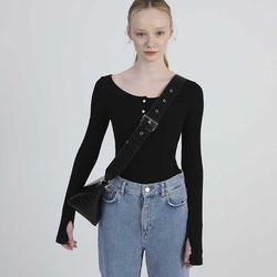 Triangle 2way Mini Bag (Black)