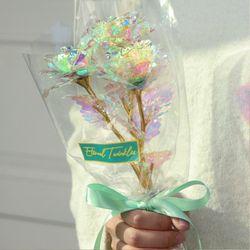 홀로그램 장미 꽃다발 세송이