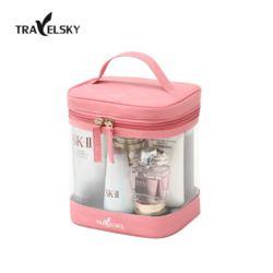 TRAELSKY 대용량 투명 PVC 여행용 화장품파우치 가방