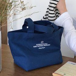 basic canvas mini bag ( blue )