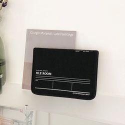File Room 파일룸 - 태블릿 파우치 Black color