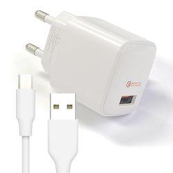 QC3.0 가정용 급속충전기 + 마이크로5핀 200cm케이블 퀵차지