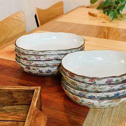 일본 도자기 그릇 아리타 타원 그라탕기 소 대 4P 세트 홈세트