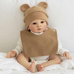 아기보넷 곰 베이지 아기 모자 신생아 보넷