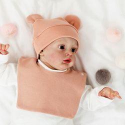 아기보넷 곰 인디핑크 아기 모자 신생아 보넷