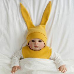 아기보넷 토끼 머스터드 아기 모자 신생아 보넷