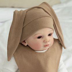 아기보넷 토끼 베이지 아기 모자 신생아 보넷