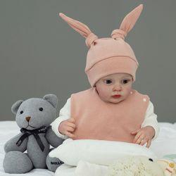 아기보넷 토끼 인디핑크 아기 모자 신생아 보넷