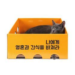 노리노리캣 카펫 스크래쳐 박스 (오렌지)