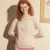 Pintuck Lace T Ivory