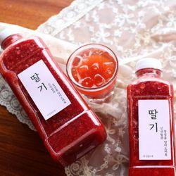 과육듬뿍 맛있는 수제 딸기청 500g
