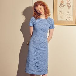 Lace Midi Dress Blue