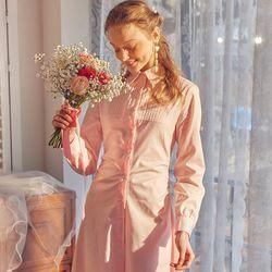 Classic Shirt Midi Dress Pink