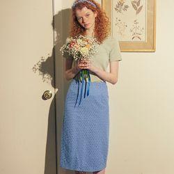 Lace Midi Skirt Blue