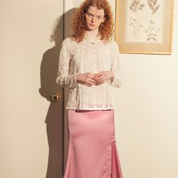 Silky Mermaid Skirt Pink