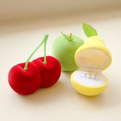 과일 피어싱 보관함 반지 케이스 노랑배 초록사과