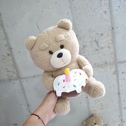 케이크 테드 봉제인형