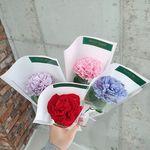 비누꽃 카네이션 1송이 꽃다발 한송이꽃 5컬러
