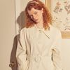 Ring Buckle Trench Coat Ivory