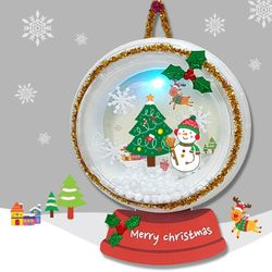 만들기 크리스마스 스노우볼등 (5set)