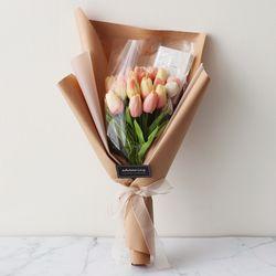 화이트데이 수제초콜릿 튤립 사탕꽃다발[핑크]