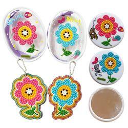 보석십자수 커플꽃 소품만들기(2인용)- 파우치