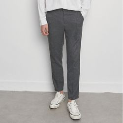 M3421 small check slacks charcoal.