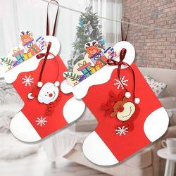 만들기 산타 양말 카드(4set)