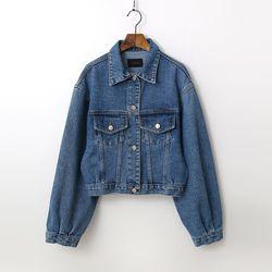 Puff Crop Denim Jacket