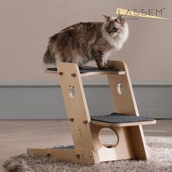 라샘 자작나무 원목 고양이 오리 캣타워 기본형 GOCT1963